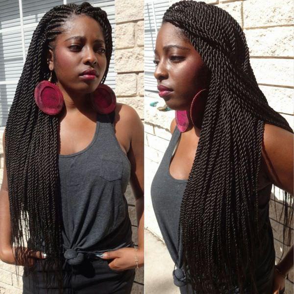 Prime Ghana Weaving With Senegalese Twists Braidsbyguvia Black Hair Short Hairstyles Gunalazisus