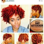 Chunky twist out with miss Jessie's baby buttercreme @jd_winters