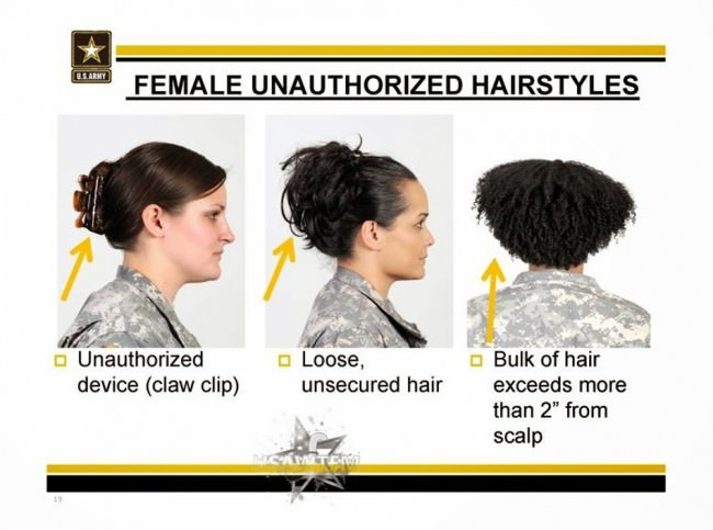 A diagram showing that hair must not be more than two inches away from the scalp.