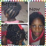 Bantu knots up do shared by Karine Harty