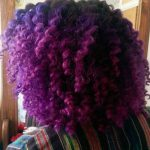 Purple curls