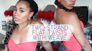 Two Strand Flat Twist With Weave