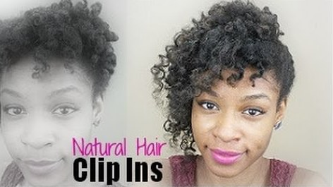 DIY Natural Hair Clip In Extensions With Kanekolon Braiding Hair - Diy natural hairstyle