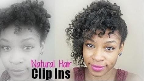 Clip Ins on Short Natural Hair Diy Natural Hair Clip in