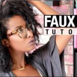 Get The Look: A Simple And Very Easy Faux Bob On Natural Hair