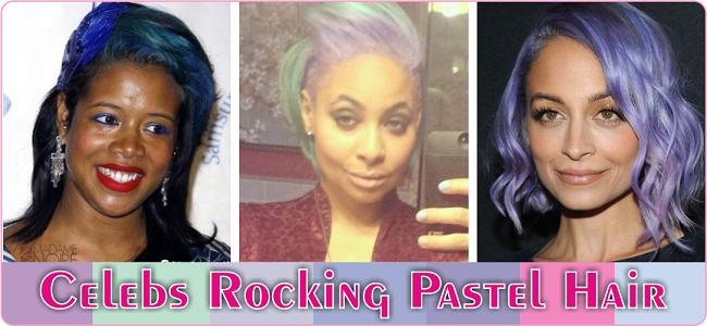 Celebs rocking pastel hair