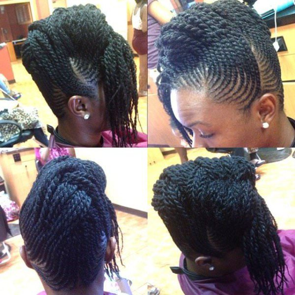 Intricate flat twist updo - Black Hair Information