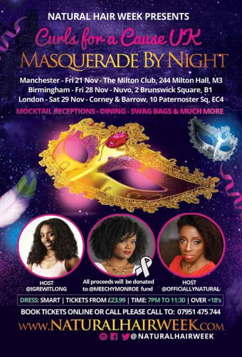 Masqurade By Night- Curls For A Cause UK