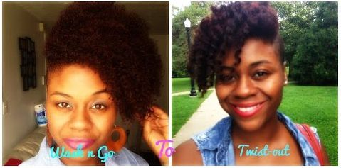 How To Transform An Old Wash N Go Into A Defined Twist Out