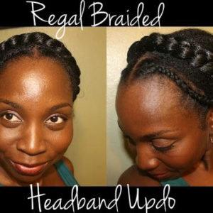 Super Easy Regal Braided Headband Updo