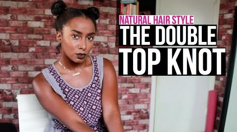 Top Knots Times Two A Double Top Knot Hairstyle Done On Natural Hair