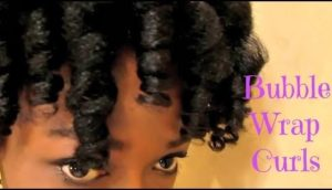 Poppin Curls! Bubble Wrap Rollerset On 4c Natural Hair