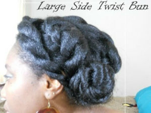 The Very Easy And Quick Large Side Twist Bun