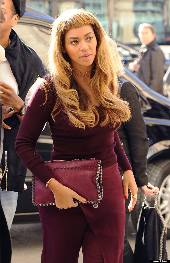 Beyonce Debuts New Hair Bangs Before Leaving Paris
