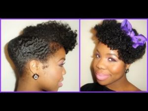 A Sexy Roll And Tuck Updo You Can Try On Your Natural Hair