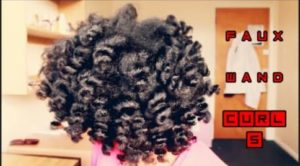 Big Fluffy Faux Wand Curls On Natural Hair