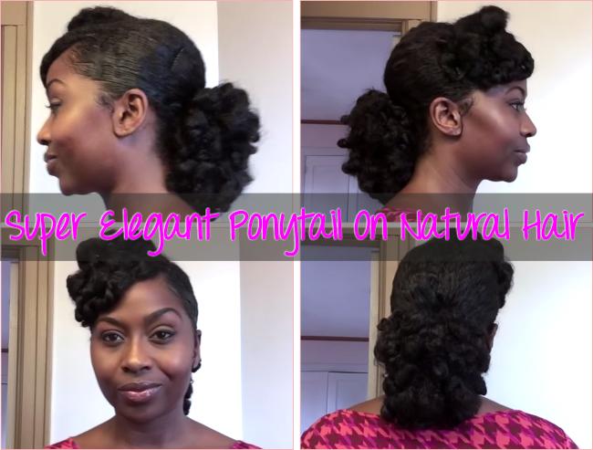 Super Elegant Ponytail On Natural Hair