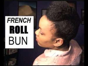 Quick French Roll Bun On Fine Natural Hair