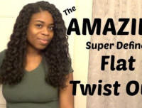 Finally A Twist Out For Relaxed Hair!