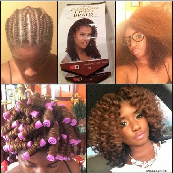 Awe Inspiring Cute Crochet Braid Style Black Hair Information Short Hairstyles For Black Women Fulllsitofus