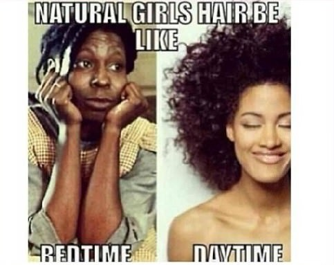 Natural girls be like bedtime