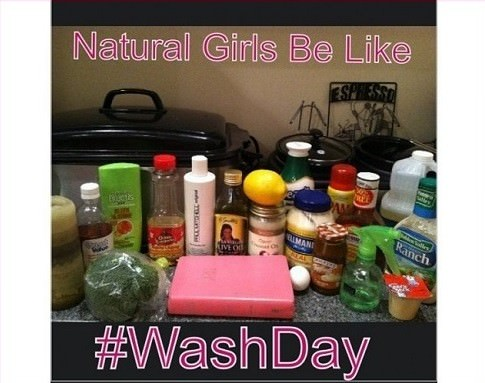 Natural girls be like wash day