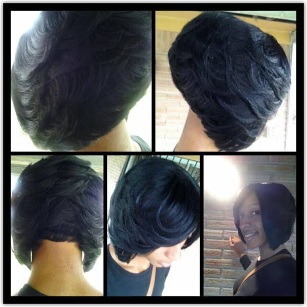 Feathered Bob Black Hair Information