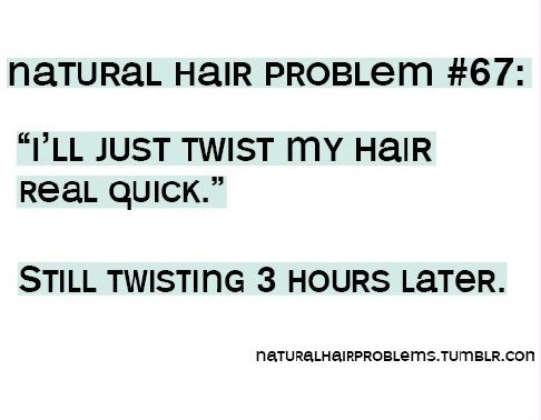 natural hair problems twisting