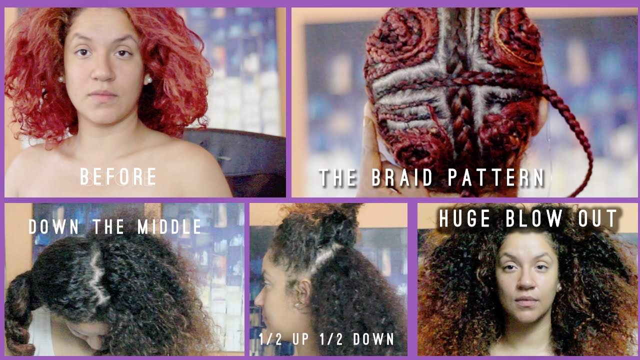 Middle Part Sew In Braid Pattern Amazing Decorating Design