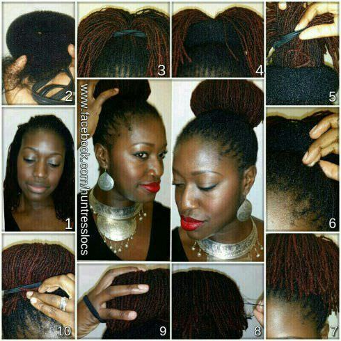 3 Beautiful Bun Styles For Locs Of All Lengths