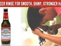 A Beer Rinse For Smooth Shiny Stronger Hair