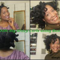 Bantu Knot Out On Straightened Natural Hair Shared By Simply Terri
