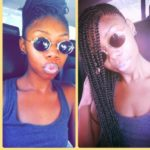 Protective Braided Style With Box Braids In The Middle Shared By Tee LeGrand