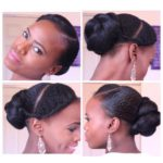 Twisted Bun with A Braid Shared By Mosaiccreations