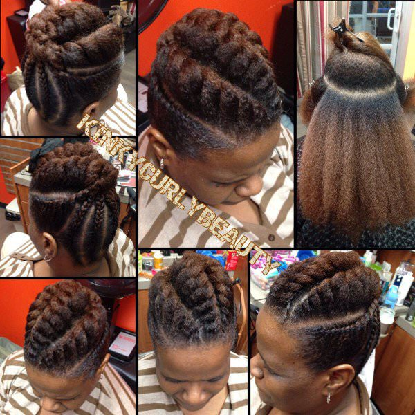 Pretty Flat Twist Updo Black Hair Information