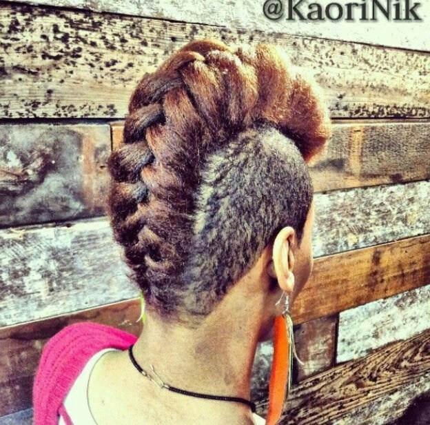 Natural hair fade