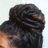 curly bun