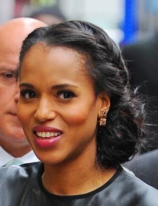 Kerry washington low side bun