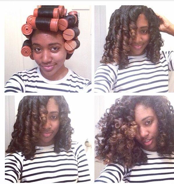 Roller Set Flat Iron Natural Hair