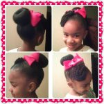Bun With Rope Twist Bangs Shared By Shaneria Mosley
