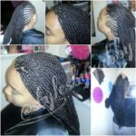 Mohawk With Box Braids Shared By Gabby Mahair