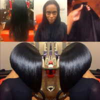 Locks of Love donation cut by @hairbychantellen – Natural Hair Silk Press