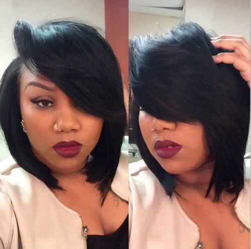 hairstyles with one short side : Deep Side Part Bob Weaves Hairstyles hairstylegalleries.com