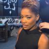 Keke Palmer hair cut and dyed blond