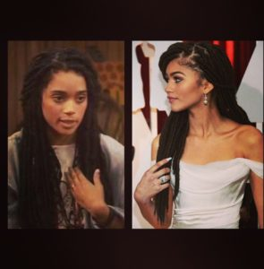 Actress, Lisa Bonet was Zendayas inspiration for her faux locs.