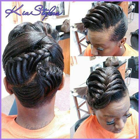 Relaxed Hairstyles Kia Styles Black Hair Information