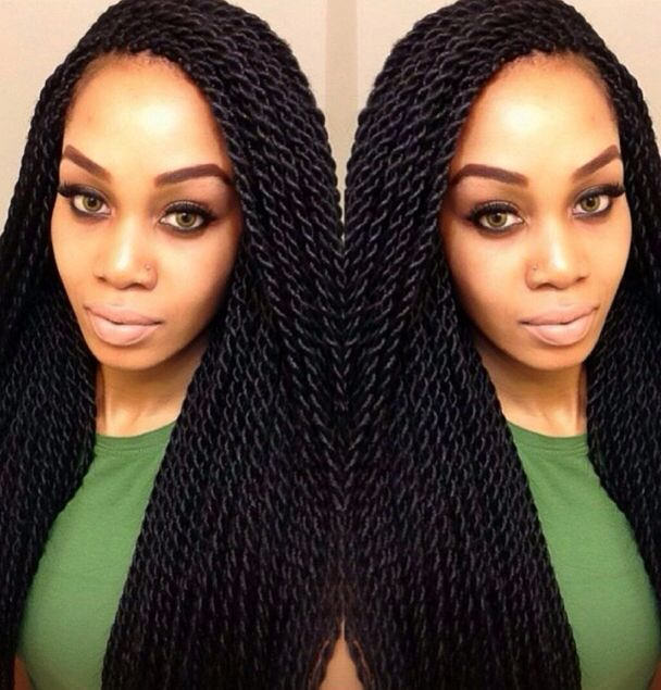 Senegalese Twist With Side Part | apexwallpapers.com