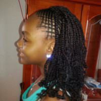 Kinky Twist With Intricate Braids At The Front