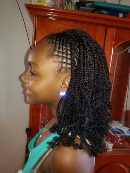 Kinky Twist With Intricate Braids At The Front Black Hair Information