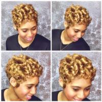 Golden Blonde Curls @raqpowers